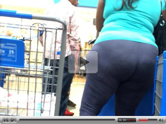 HUGE ASS EBONY in blue (Pt 2)
