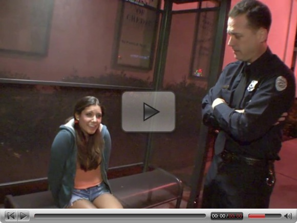 Bad Girl Teen Fucks A Cop!