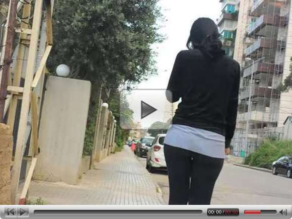 Lady with Big Ass Walking