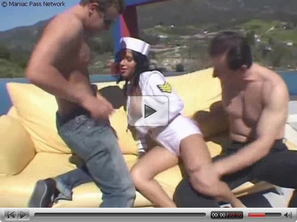 NAVY gal doublefucked on a boat