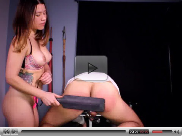 Femdom Spanking and Chastity