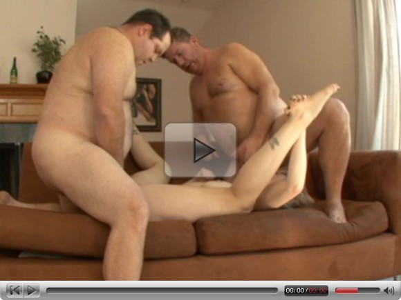 Blonde Anal Fatguy tag-team