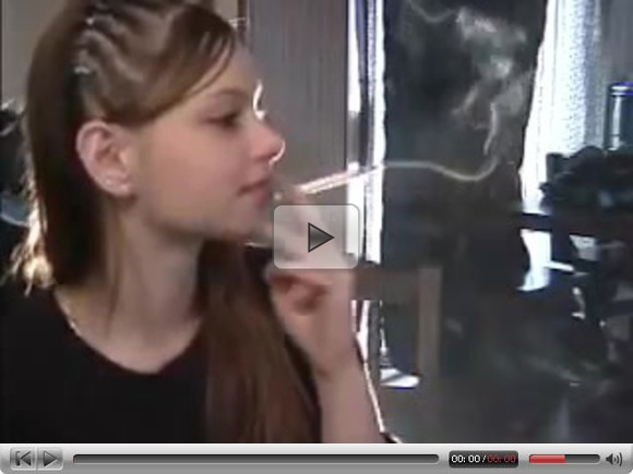 Pretty girl smoking